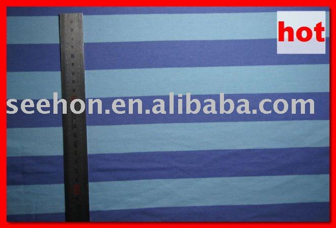 Blue and Brown Ribbon Stripe Fabric by the Yard MOQ:1 meter