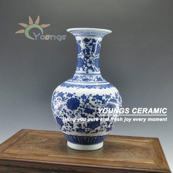Decorado jardinera porcelana azul y blanco de cer mica for Jardineras de ceramica