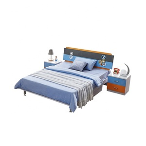 Hot sale modern furniture children furniture kids bedroom 8106 cheap price blue color for girls for boys wholesale
