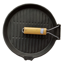 Mini Lodge camping BBQ round cast iron grill pan