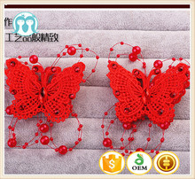 chinese traditional style lace beaded bow for kids wedding party wear heandwear retro palace hair ornaments headdresses