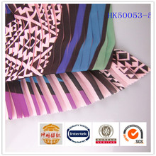 Hot selling drape anti-static 100%polyester printed silk accordion pleated chiffon fabric for dress