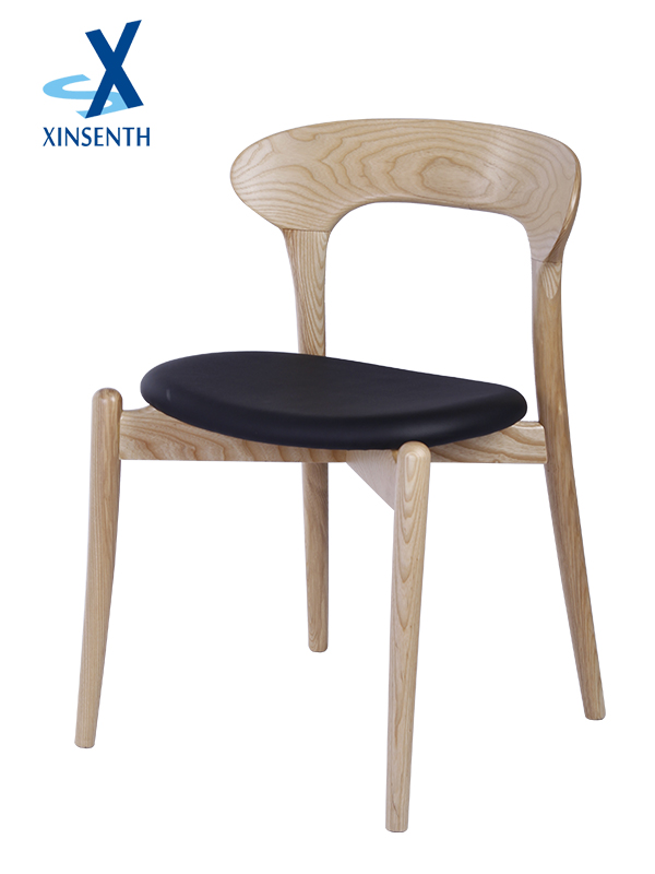 China wholesale wooden dining chair with PU