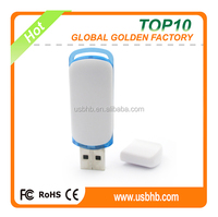 plastic white color low cost usb flash drive 64GB , X'mas promotional gift