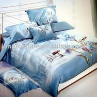 100%cotton luxury reactive printed four pieces bedding set