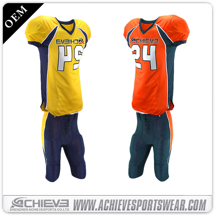 wholesale customized blank american football jerseys/uniforms