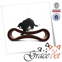 grace pet 8 shape design cardboard toy cat scratcher with catnip