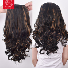 mixed color Top quality high temperature synthetic wig synthetic kinky curly wig