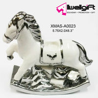 Polyresin Christmas Horse Angel interier Decoration