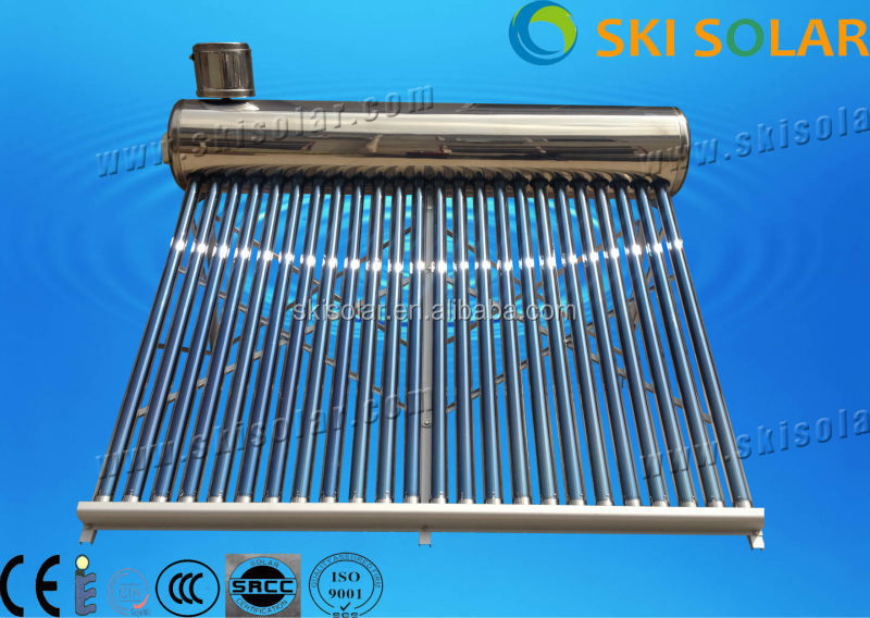 2015 NEW product copper coil thermosyphon Integrated Non-pressure solar water energy system sus304-2B inner tank
