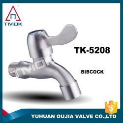 TMOK Stainless Steel Flow Control Faucet Tap Brass Kitchen Faucet with Bibcock Hose