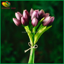 Real touch hand made mini PU mini tulip bouquet decorative artificial flowers garden and hotel decoration