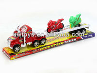 FRICTION TOY TRAILER WITH 2PCS FREE-WHEEL MOTORCYCLES