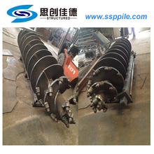 big size metal steel screw piling piles ground anchor foundation
