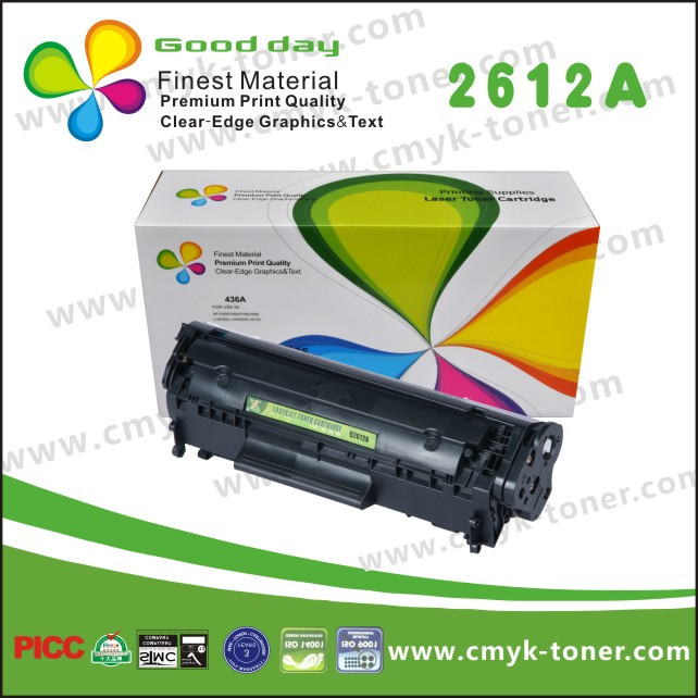 New compatible hp 12a q2612a black printer laserjet toner cartridge