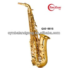 curved bell gold lacquer Bb brass children Alto saxophone from china