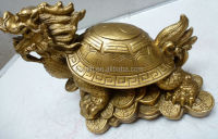 wholesale brass dragon turtle sculpture with eight diagrams