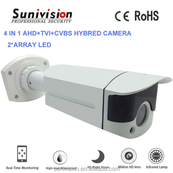 HOT sale IMX322 image sensor 1080p 40m IR range cctv outdoor 4 in 1 AHD+CVI+TVI+CVBS camera housing