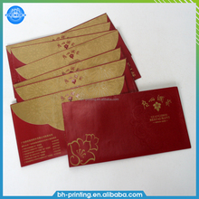 Fancy envelope design printing wedding invitation a5 card printing