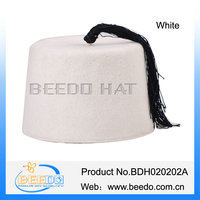 Fashionable muslim white songkok hat