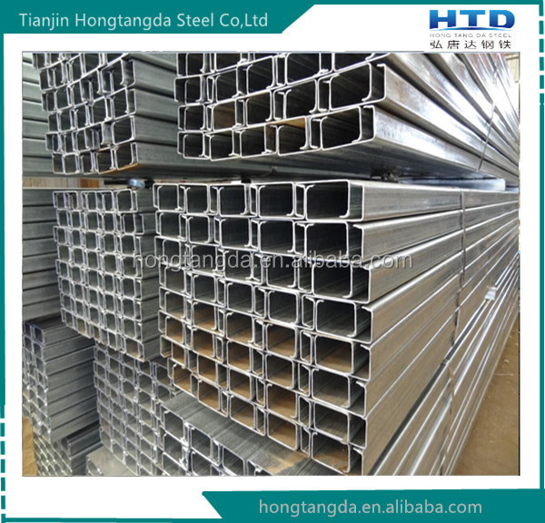 Galvanized steel C channel/u channel ss400 carbon structure steel channel