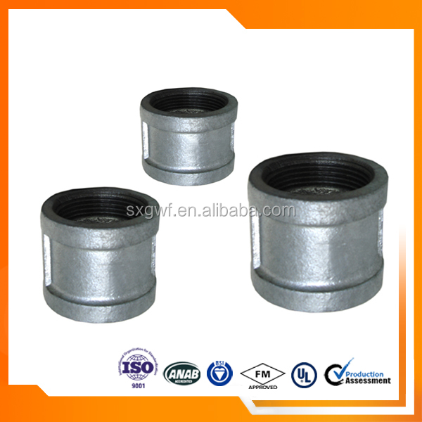 "ANSI GI Malleable iron pipe fitting 1/2"" socket"