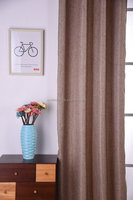 100% polyester cotton linen fabric ready made blackout curtain and shower curtain