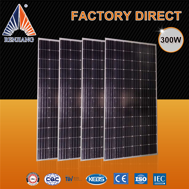high efficiency factory direct solar panels, monocrystalline pv 36v solar panel 300w