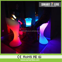 spyra modern led table and bar stools acrylic furniture