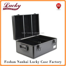 510 Disc Capacity Black Aluminum-Like Hard Plastic CD DVD Storage Case