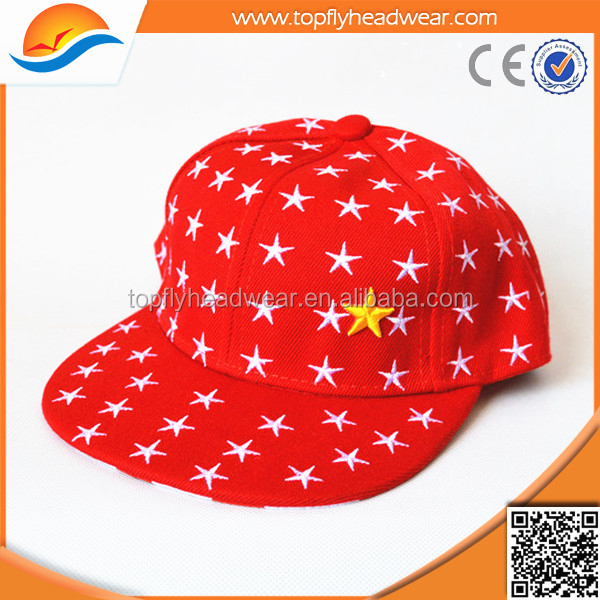 Fashion Style Children Kids Felt Flat Bill Hat Snapback