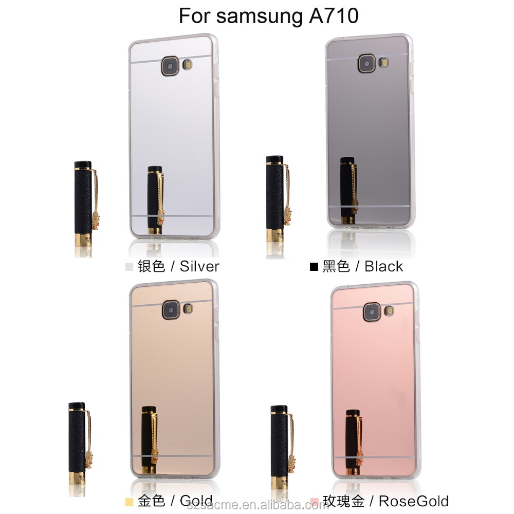 Electroplating TPU Mirror Soft Clear Case For Samsung Galaxy A7 2017 Mirror TPU Case