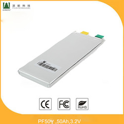 LFP Battery pack PF50Y 3.2V,50Ah normal capacity lifepo4 rechargeable cell