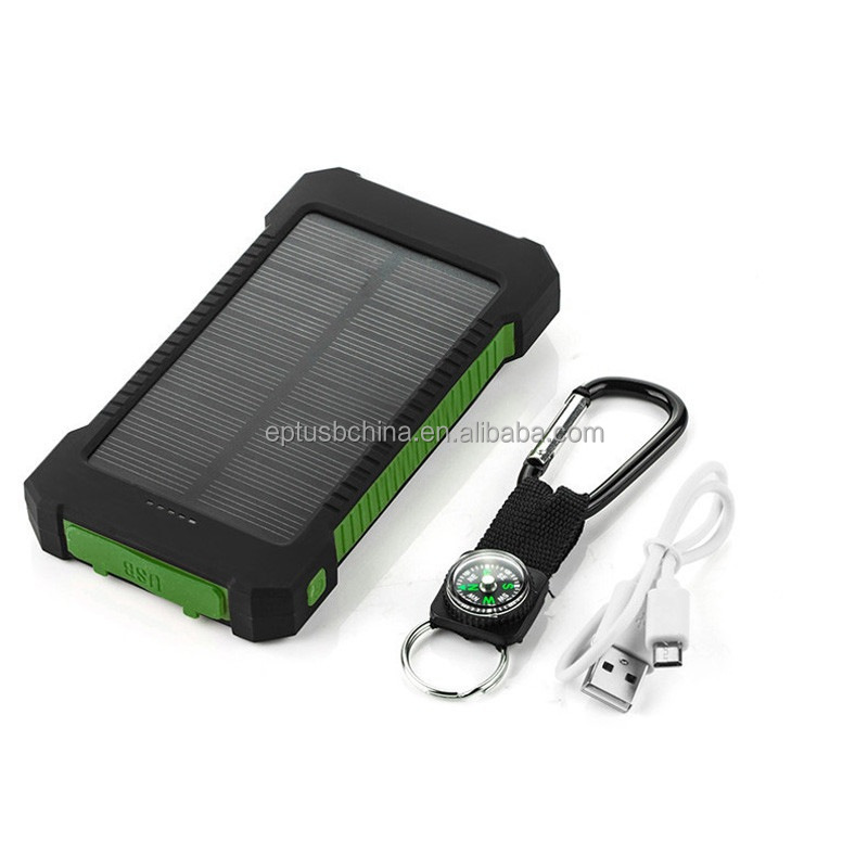 Solar power bank,ultra thin power bank,portable universal led mobile phone charger