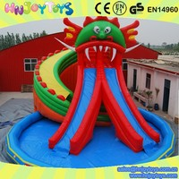 attractive commercial giant inflatable water slide for sale, used fiberglass water slide for sale