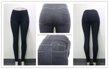 Women fashion cheapest ladies denim sexy jeans leggings pants with real pocket
