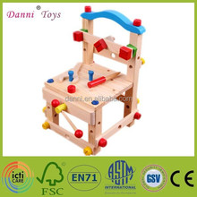 2015 new Factory Sale Kids Wooden Chair Educational DIY Toy