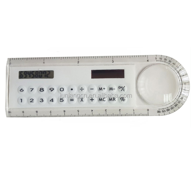 Promotional School Office Gift 10cm Ruler Graphing Solar Calculator Wholesale