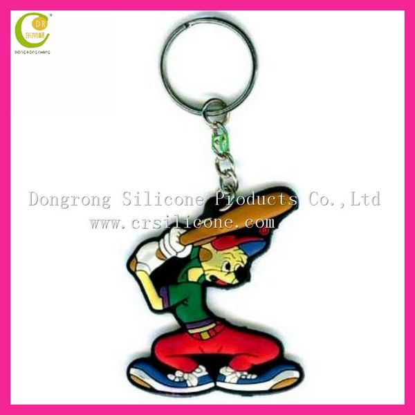 Made of soft rubber key chain cartoon key chain logo key chain 3d pvc rubber keychain