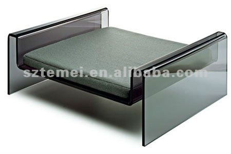 clear black lucite acrylic pet dog bed