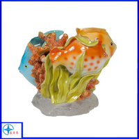Creative Rainbow Fish Resin Figurine, Multi-Color Animal Statue