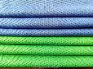 100% polyester bird eye knitting mesh fabric for garment