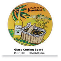 tempered round glass kitchen use cutting board