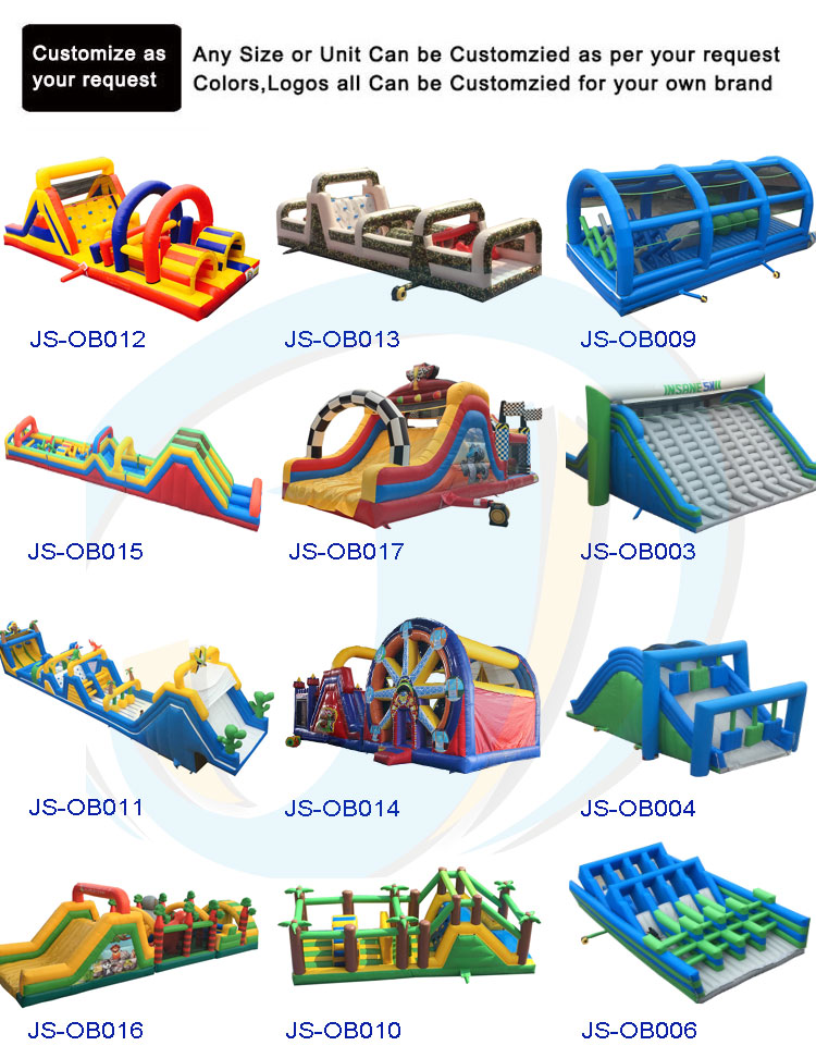 Inflatable wipe out adult kids inflatable obstacle course outdoor play equipment for sale