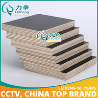 Langfang China manufacture e1 grade high quality film faced melamine board/plywood for construction and cabinet
