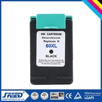 100% Quality Guarantee inkjet cartridges for hp 60xl bk 60xl cl with CE Certifiecate
