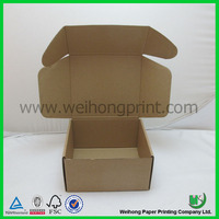 plain brown kraft paper corrugated delivery box