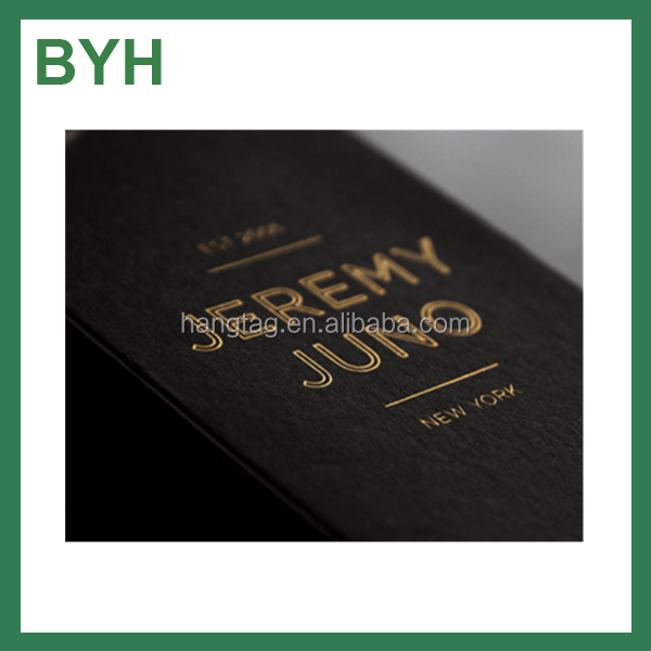 Offset printing embossed business card name card with gold hot stamping