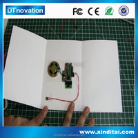 Customized voice sound module recording greeting card