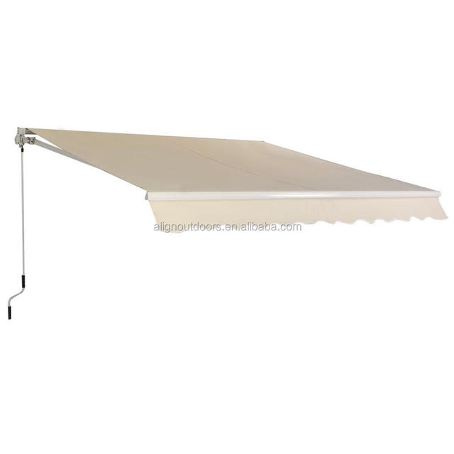 Cheap Instant Rain Shades Aluminum Waterproof Fabric Cassette Awning